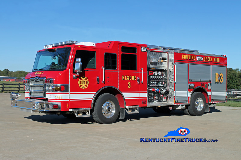 <center> REASSIGNED <br> Bowling Green   Rescue 3 <br> 2010 Pierce Impel 1500/500/30 <br> Kent Parrish photo </center>