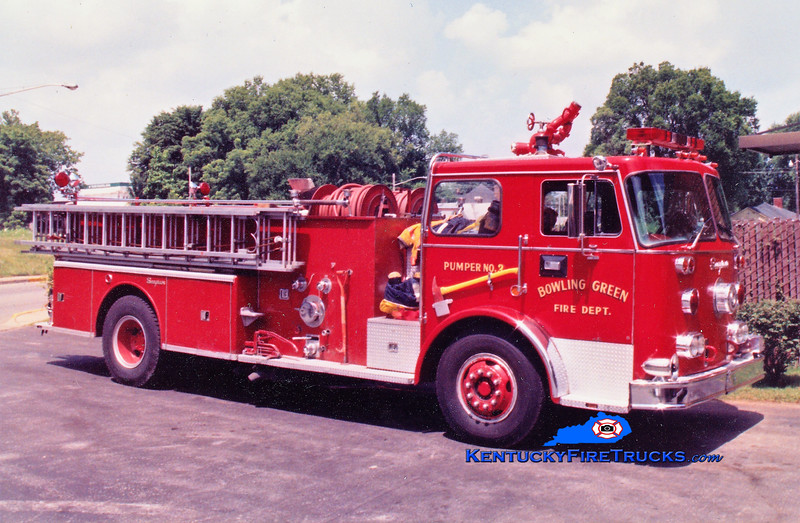 RETIRED <br /> Bowling Green  Pumper 3<br /> 1978 Seagrave PB 1000/500<br /> Greg Stapleton photo