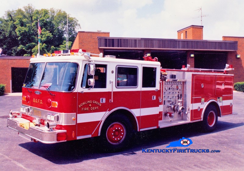 RETIRED <br /> Bowling Green  Engine 4<br /> 1988 Pierce Arrow 1250/500<br /> Greg Stapleton photo