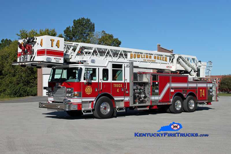 <center> REASSIGNED <br> Bowling Green, KY  Truck 4 <br> 2010 Pierce Arrow XT 2000/300/100' <br> Kent Parrish photo </center>