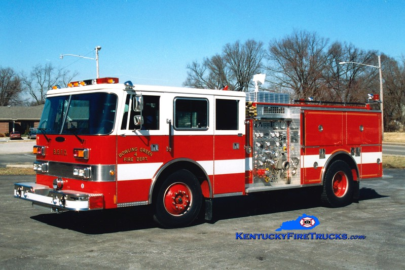 <center> RETIRED <br> Bowling Green, KY  Engine 4 <br> 1993 Pierce Arrow 1250/500 <br> Greg Stapleton photo </center>