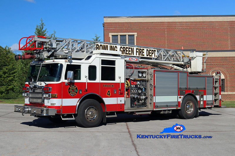 RESERVE <br /> Bowling Green  Truck 4<br /> x-Quint 1 & 2 <br /> 2007 Pierce Dash 1500/500/30/75'<br /> Kent Parrish photo