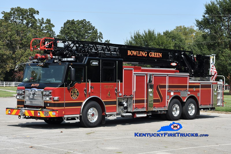 Bowling Green Truck 4 <br /> 2020 Pierce Velocity 1500/500/107' <br /> Greg Stapleton photo