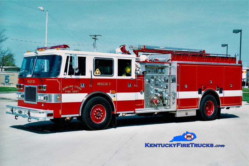 RETIRED<br /> Bowling Green  Rescue 2<br /> 1997 Pierce Arrow 1250/500<br /> Greg Stapleton photo