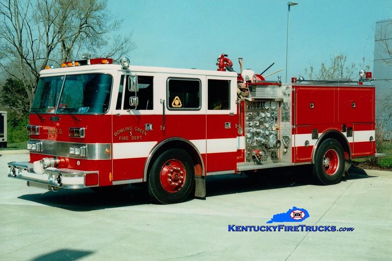 <center> RETIRED <br> Bowling Green Engine 5 <br> 1994 Pierce Arrow 1250/500 <br> Greg Stapleton photo </center>