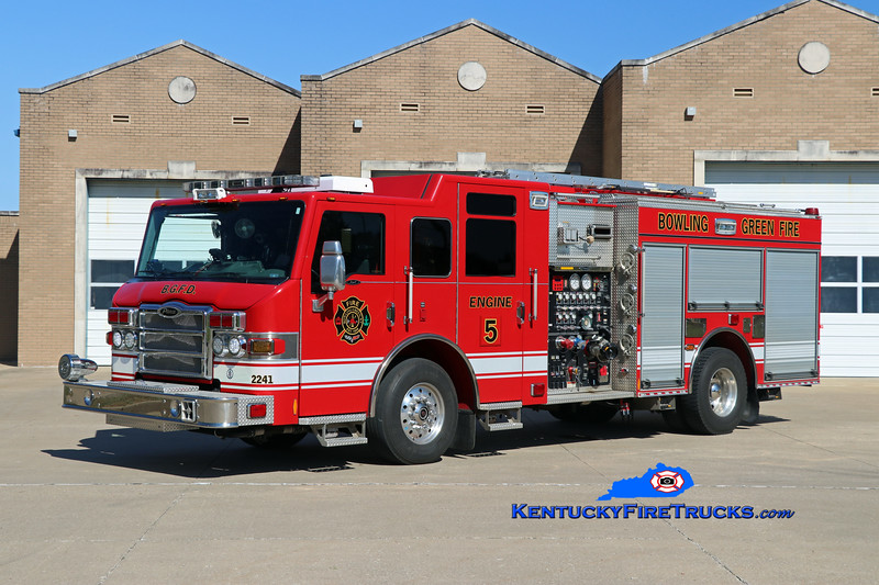REASSIGNED <br /> Bowling Green  Engine 5<br /> x-Rescue 3<br /> 2010 Pierce Impel 1500/500/30<br /> Kent Parrish photo