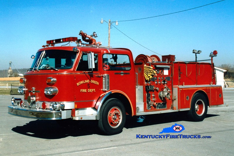 <center> RETIRED <br> Bowling Green, KY  Pumper 5  <br> 1978 American LaFrance Century 1250/500 <br> Greg Stapleton photo </center>