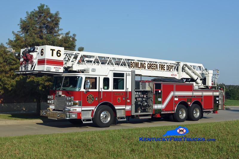Bowling Green  Truck 6<br /> x-Truck 4 <br /> 2010 Pierce Arrow XT 1500/300/100'<br /> Kent Parrish photo