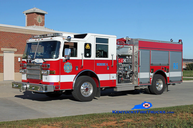 <center> REASSIGNED <br> Bowling Green  Rescue 6 <br> 2007 Pierce Dash 1500/500/30 <br> Kent Parrish photo </center>