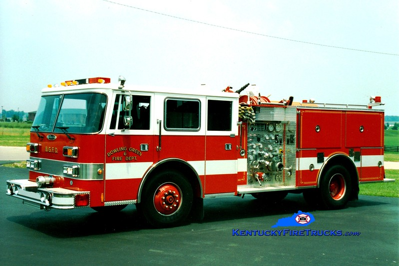<center> RETIRED <br> Bowling Green  Engine 6 <br> 1994 Pierce Arrow 1250/500 <br> Greg Stapleton photo </center>