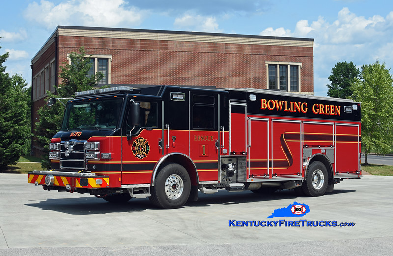 Bowling Green  Rescue 1<br /> 2018 Pierce Velocity 1500/620/30<br /> Kent Parrish photo