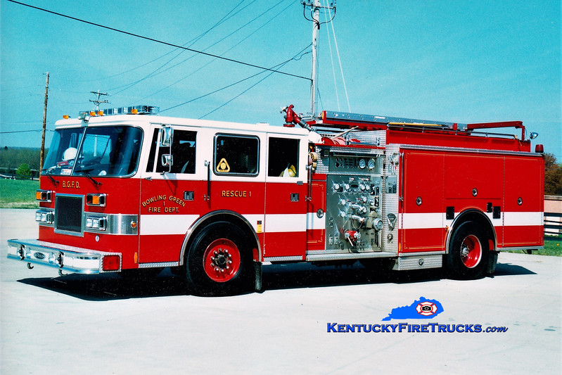 RETIRED <br /> Bowling Green  Rescue 1<br /> 1996 Pierce Arrow 1250/500<br /> Greg Stapleton photo