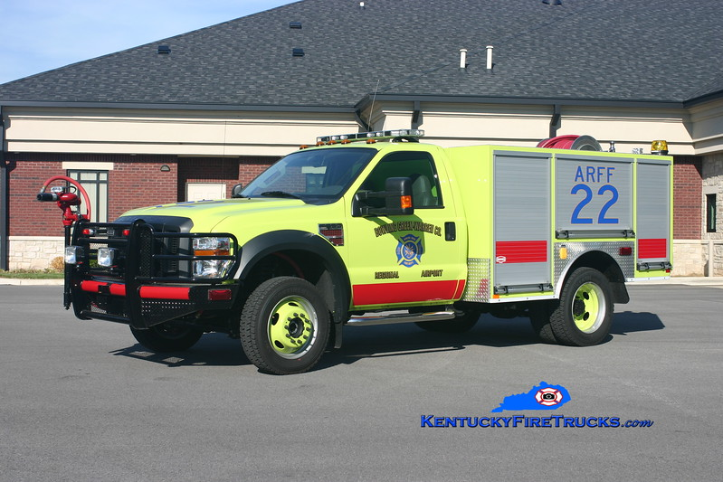 <center> Bowling Green-Warren County Regional Airport  ARFF 2 <br> 2009 Ford F-550 4x4/Danko CAFS-300PM/500PK <br> Kent Parrish photo </center>