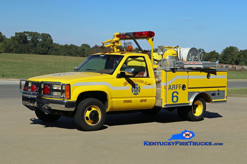 Bowling Green-Warren County Regional Airport Reserve ARFF 6<br /> x-Barkley Regional Airport, Paducah, KY<br /> 1990 GMC 3500 4x4/E-One 500PK/150PM<br /> Kent Parrish photo