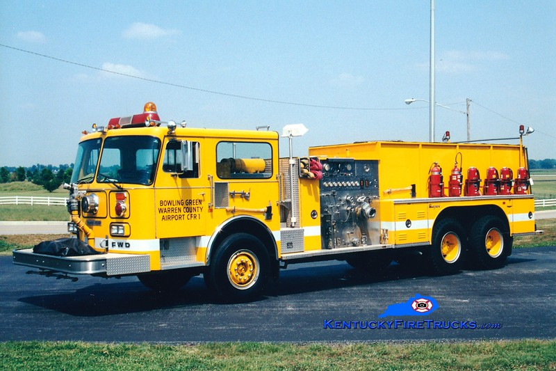 <center> RETIRED <br> Bowling Green-Warren County Regional Airport  ARFF 1 <br> 1983 FWD/Seagrave 6x6 1250/2000/75 <br> Greg Stapleton photo </center>