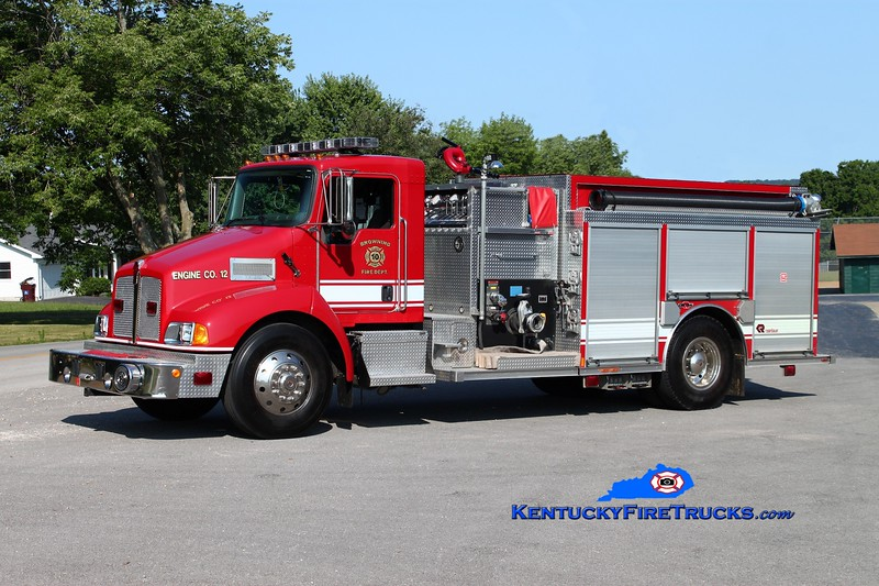 <center> Browning  Engine 12 <br> 2007 Kenworth T-300/Rosenbauer-Central 1250/1000/30 <br> Kent Parrish photo </center>