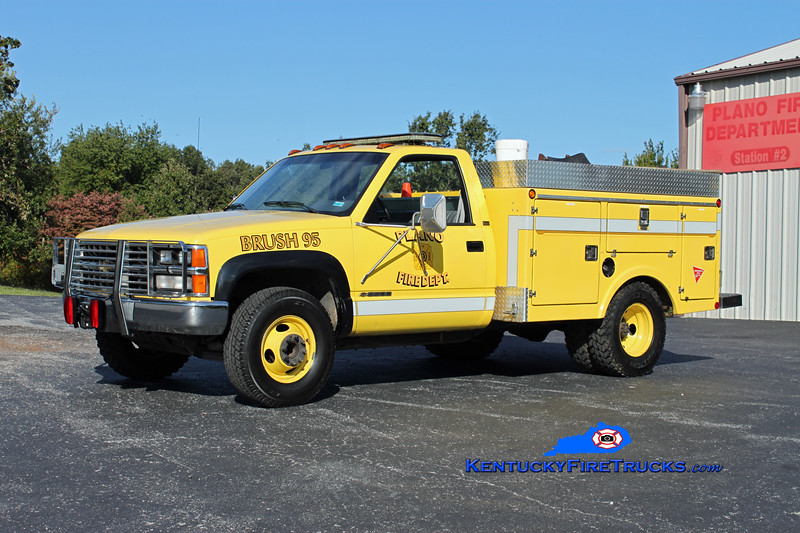 <center> RETIRED <br> Plano  Brush 95 <br> 1995 Chevy 3500 4x4/Northwest 250/250 <br> Kent Parrish photo </center>
