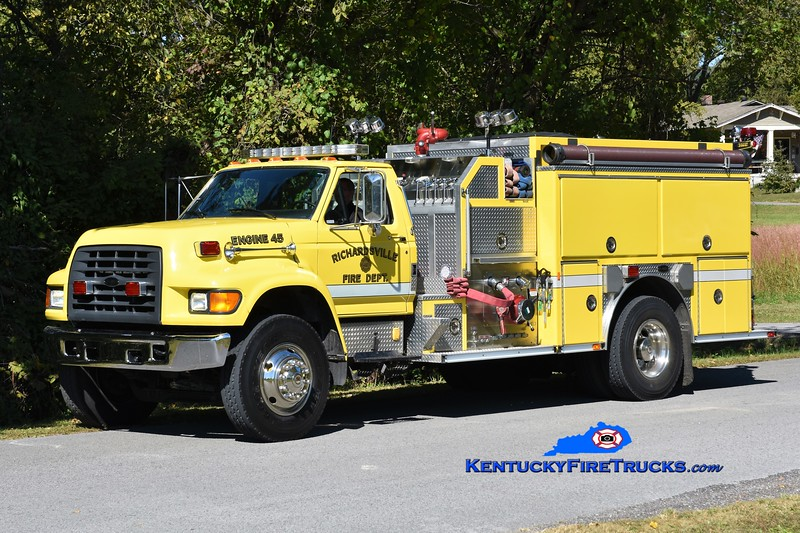 Richardsville  Engine 45<br /> x-Engine 48<br /> 1997 Ford F-800/E-One 1250/1000<br /> Greg Stapleton photo
