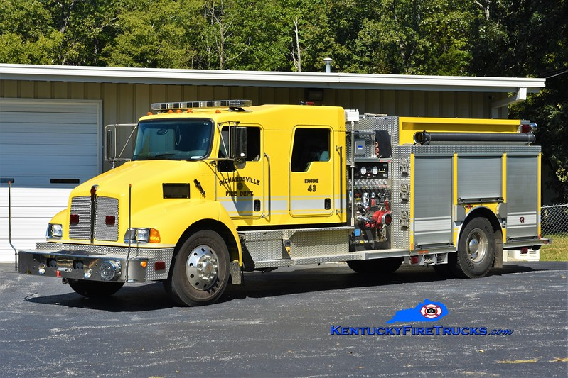 Richardsville  Engine 43<br /> x-Engine 42<br /> 2007 Kenworth T-300/Rosenbauer 1250/1000/30<br /> Greg Stapleton photo