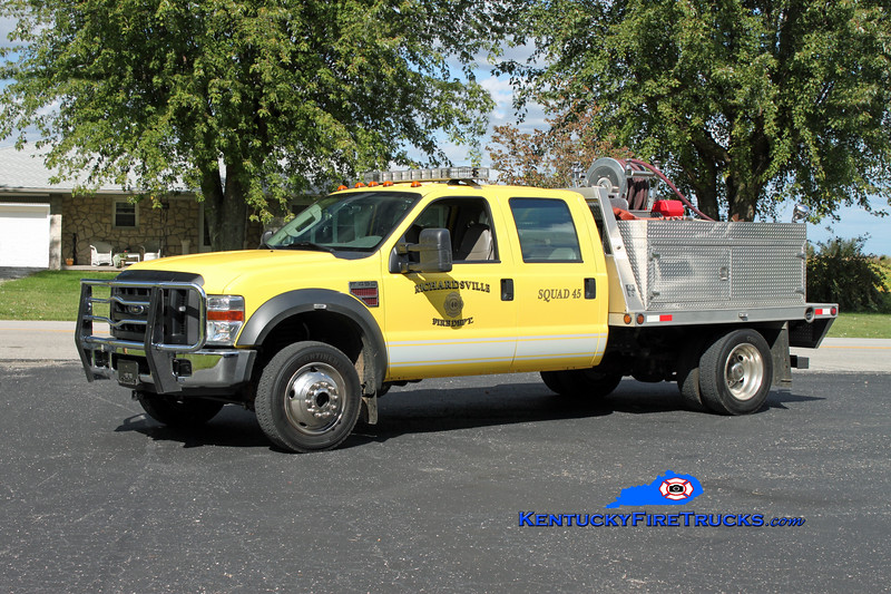 <center> REASSIGNED <br> Richardsville  Squad 45 <br> 2008 Ford F-450 4x4/Trailer World/CET 250/300 <br> Kent Parrish photo </center>