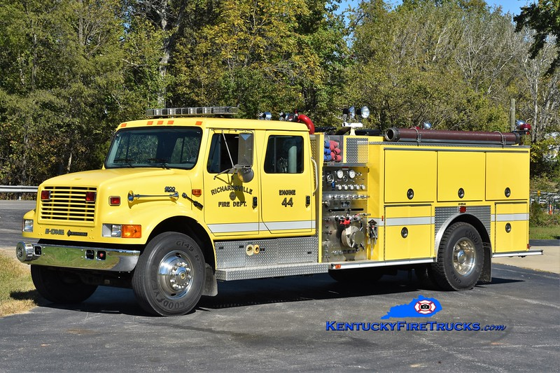 Richardsville  Engine 46<br /> x-Engine 44<br /> 1995 International 4900/E-One 1250/1000<br /> Greg Stapleton photo