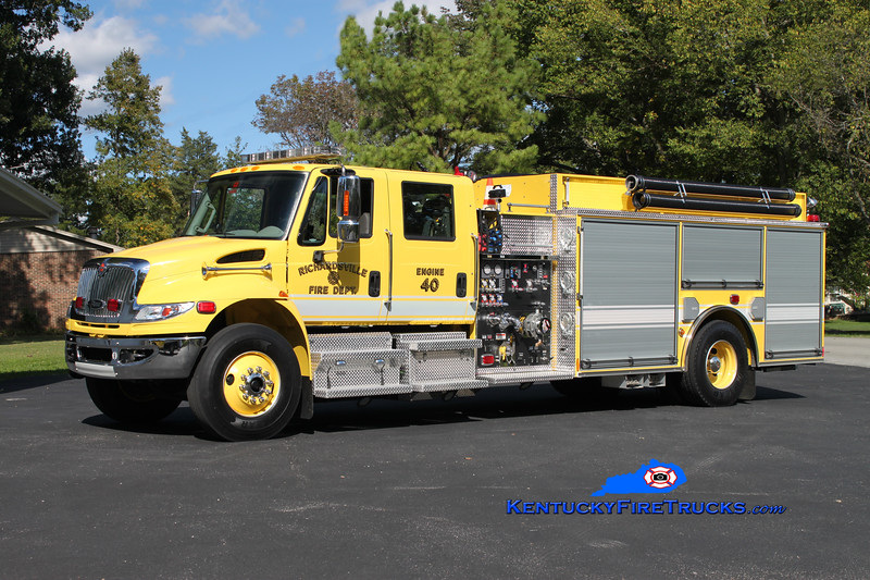 <center> REASSIGNED <br> Richardsville  Engine 40 <br> 2011 International 4400/Pierce 1250/1500 <br> Kent Parrish photo </center>