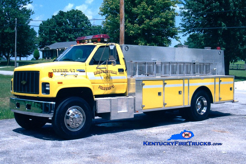 <center> REASSIGNED <br> Richardsville  Tanker 47 <br> 1995 Chevy Kodiak/Wimpee's Welding 0/1800 <br> Greg Stapleton photo </center>