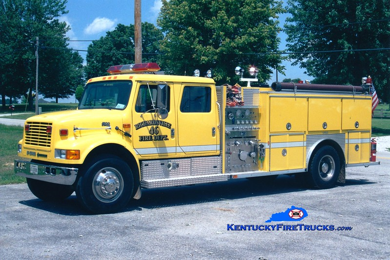 <center> REASSIGNED <br> Richardsville  Engine 46 <br> 1995 International 4900/E-One 1250/1000 <br> Greg Stapleton photo </center>