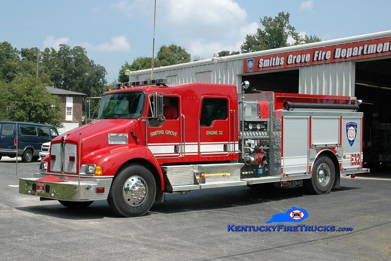 <center> Smiths Grove  Engine 32 <br> 2007 Kenworth T-300/Rosenbauer-Central 1250/1000 <br> Greg Stapleton photo </center>