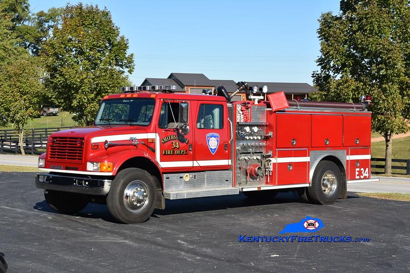 Smiths Grove  Engine 34<br /> 1996 International 4900/E-One 1250/1000<br /> Greg Stapleton photo