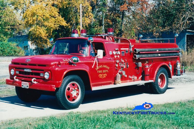 <center> RETIRED <br> Smiths Grove  Engine 36 <br> 1966 Ford F-750/Howe 500/500 <br> Greg Stapleton photo </center>