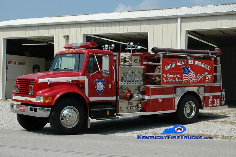 <center> Smiths Grove  Engine 38 <br> 1992 International 4900/E-One 1250/1000 <br> Greg Stapleton photo </center>