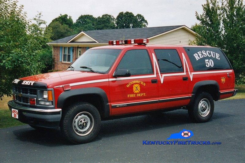 RETIRED<br /> Woodburn  Rescue 50<br /> 1996 Chevy Suburban<br /> Greg Stapleton photo