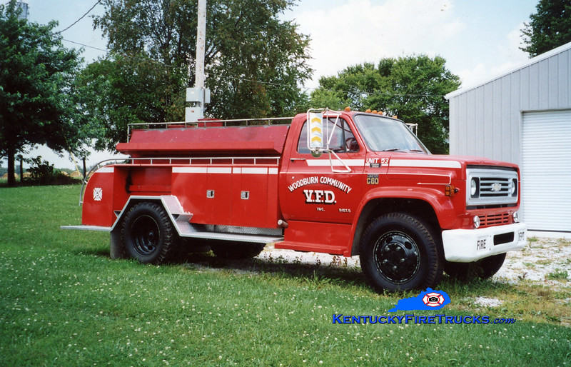 <center> RETIRED <br> Woodburn  Tanker 53 <br> Chevy C60/Local  <br> Kent Parrish photo </center>