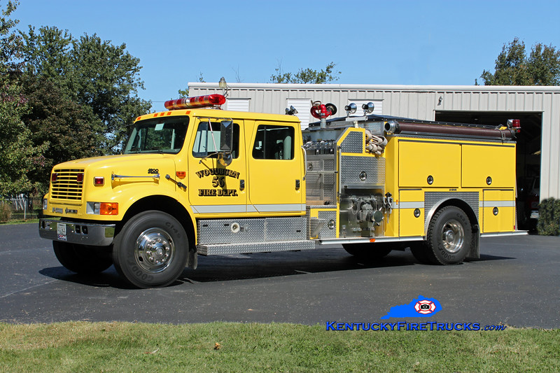 <center> Woodburn  Engine 56 <br> 1995 International 4900/E-One 1250/1000 <br> Kent Parrish photo </center>