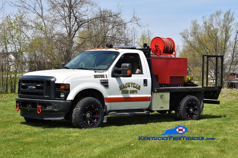 Mackville  Brush 1<br /> 2008 Ford F-350 4x4/MFD 2017 250/250<br /> Greg Stapleton photo