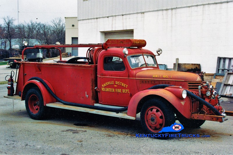 RETIRED<br /> Mackville  Engine 1<br /> x-Chrisney, IN <br /> 1945 Chevy/American 500/300<br /> Greg Stapleton photo