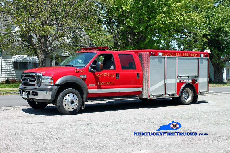 <center> Mackville  Rescue 1 <br> 2005 Ford F-550 4x4/Wynn <br> Kent Parrish photo </center>