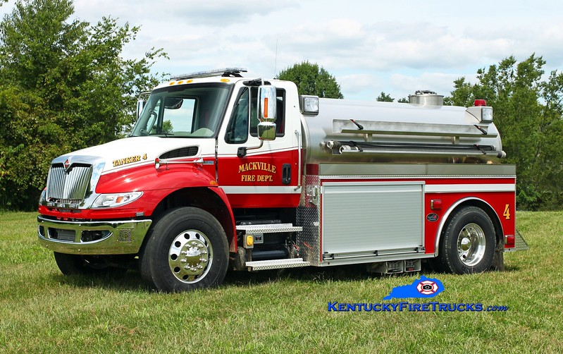 <center> Mackville  Tanker 4 <br> 2014 International 4400/Bluegrass 500/2000 <br> Kent Parrish photo </center>