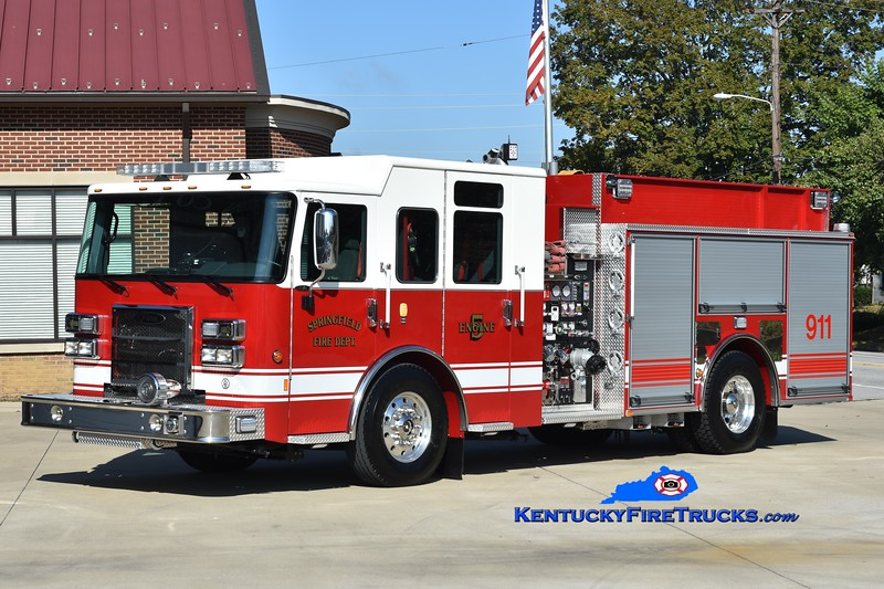 Springfield Engine 5<br /> 2019 Pierce Saber 1500/1000<br /> Greg Stapleton photo