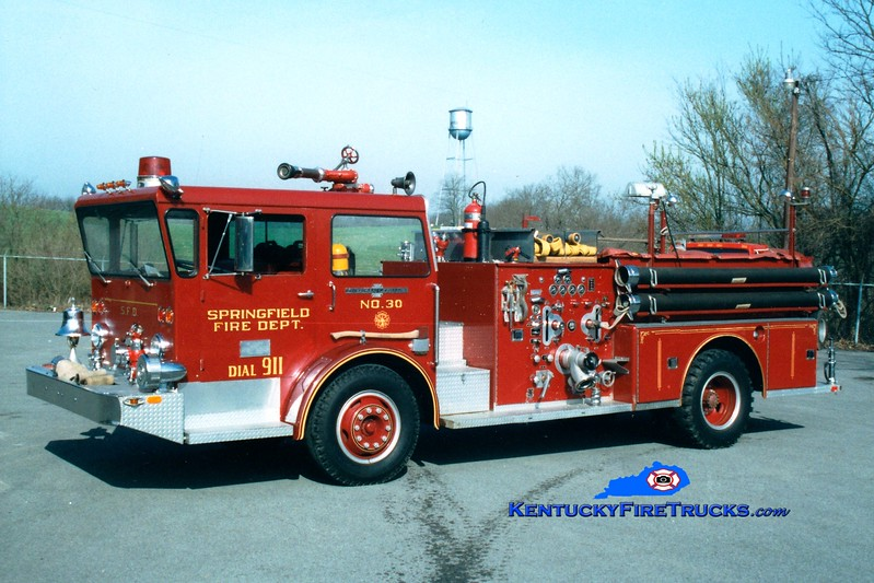 <center> RETIRED <br> Springfield  Engine 30  <br> 1969 American LaFrance Pioneer 1000/500 <br> Greg Stapleton photo </center>