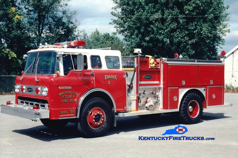 <center> RETIRED <br> Washington County  Engine 2  <br> x-Barbourville, WV <br> 1982 Ford C/E-One 1250/750 <br> Greg Stapleton photo </center>