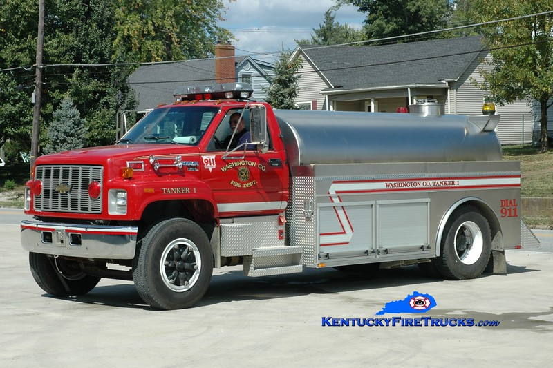 <center> Washington County  Tanker 1  <br> 1993 Chevy Kodiak/2010 Bluegrass 250/2000  <br> Greg Stapleton photo </center>