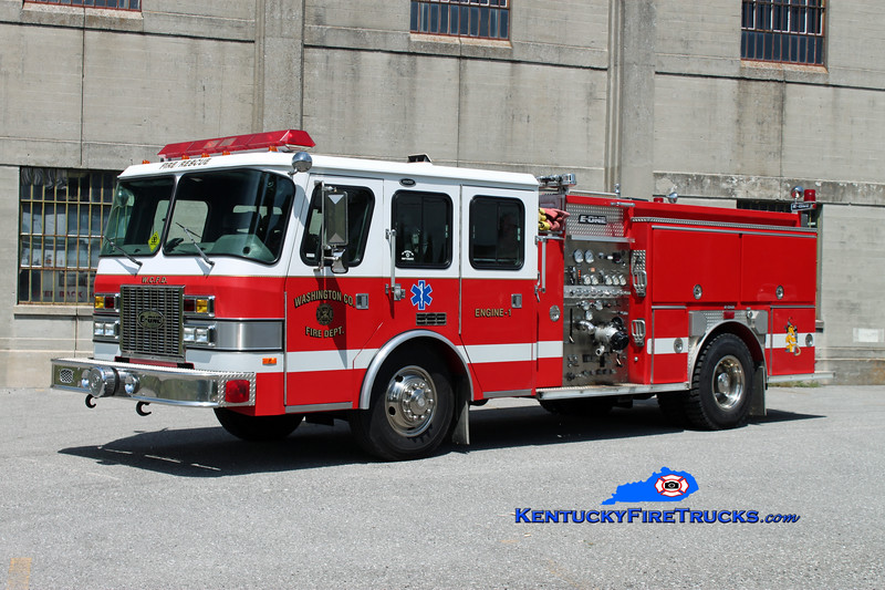 <center> Washington County  Engine 1  <br> x-Destin, FL <br> 1995 E-One Sentry 1250/750 <br> Kent Parrish photo </center>