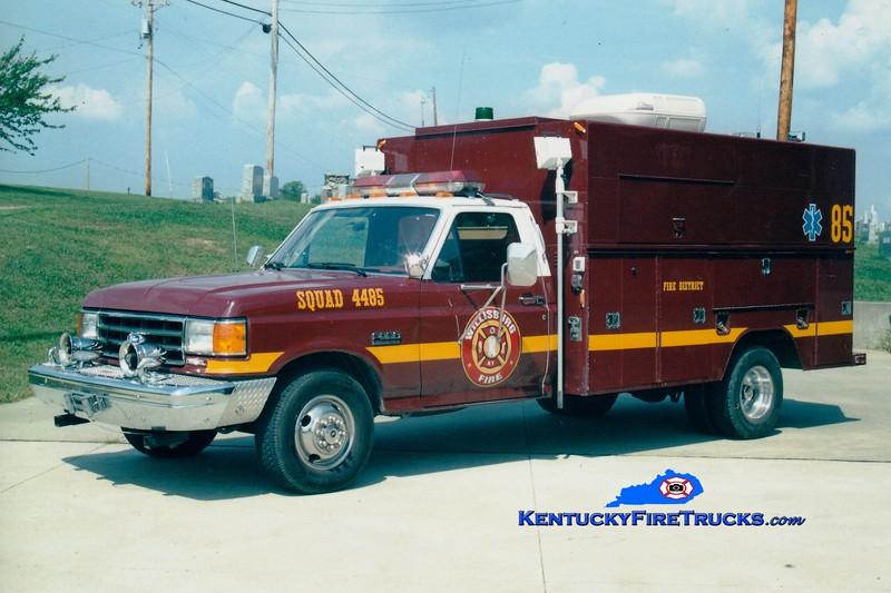RETIRED<br /> Willisburg Squad 5<br /> x-Edgewood (Jefferson Co), KY<br /> 1985 Ford F-350/Knapheide<br /> Greg Stapleton photo