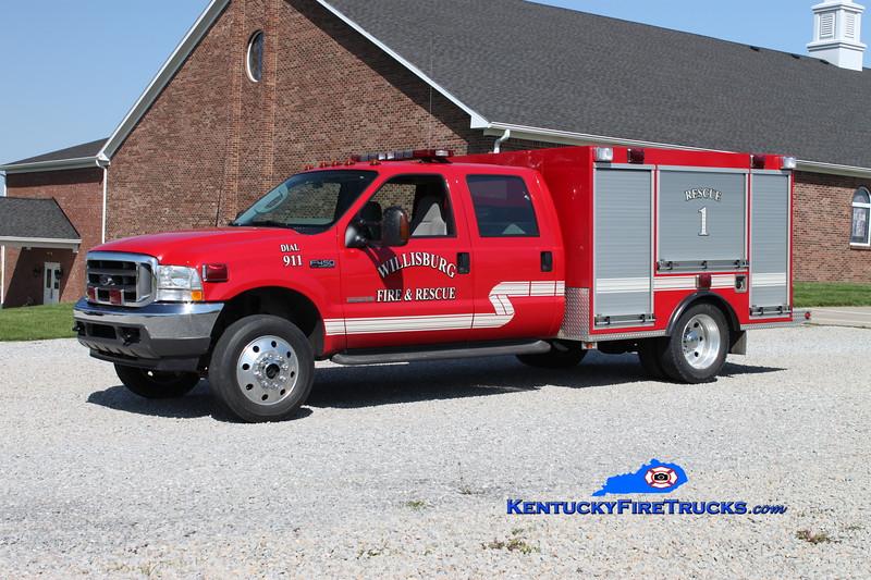 <center> Willisburg  Rescue 1  <br> 2008 Ford F-450 4x4/Wynn  <br> Kent Parrish photo </center>