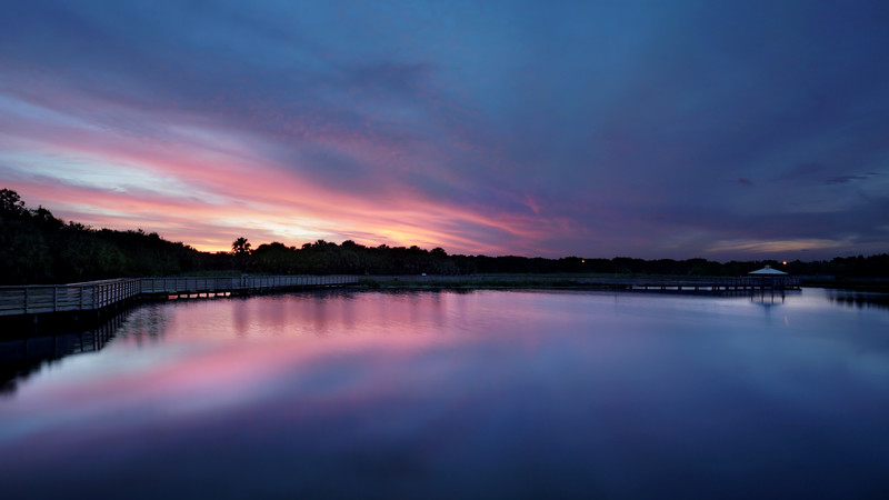 A shiny Saturday night at Green Cay wetlands.