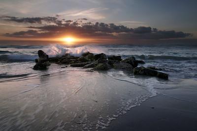 April sunrise over the Sabellariid worm reef.