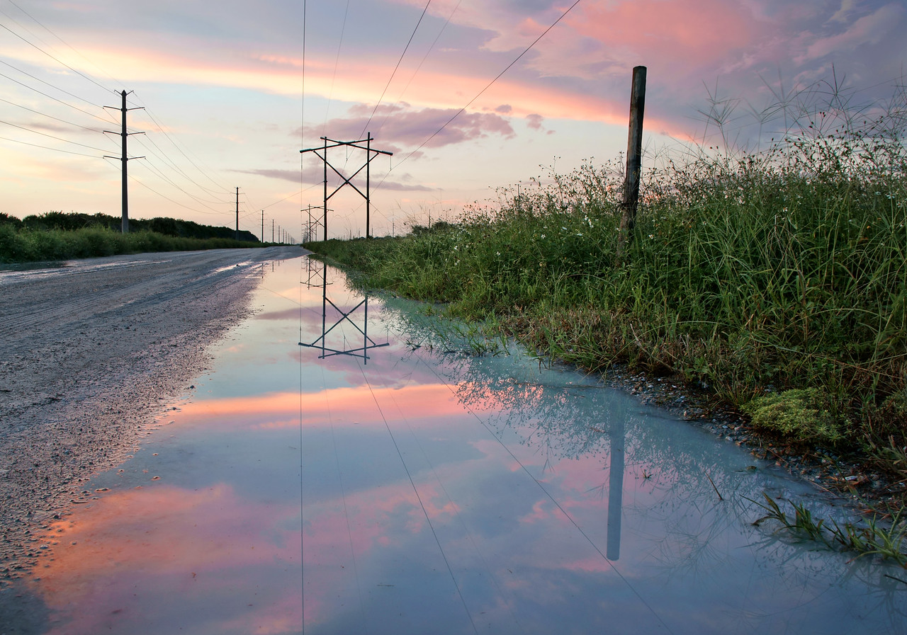 Powerline Road after the rain.