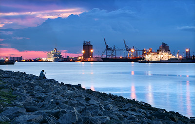 Blue hour at Port Canaveral.